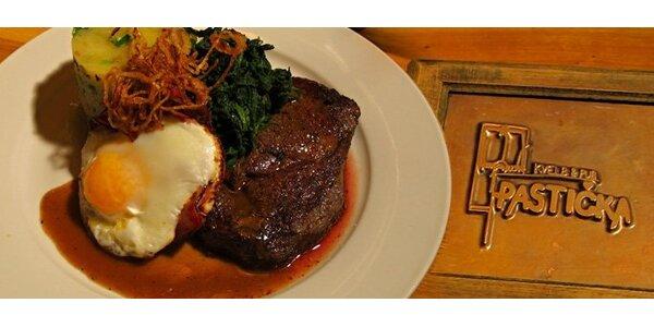 249 Kč za dva šťavnaté uruguayské hovězí steaky s přílohou. Sleva 66 %!