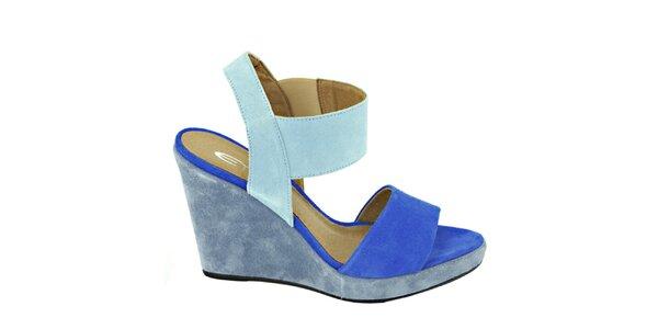Dámské kobaltově modré sandálky na platformě Eye