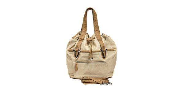 Béžová kabelka Siva ve tvaru vaku