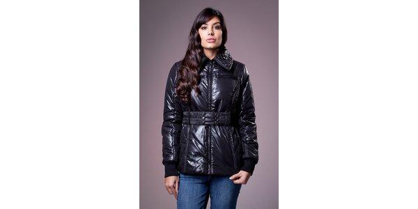 Dámská lesklá černá zimní bunda Ada Gatti