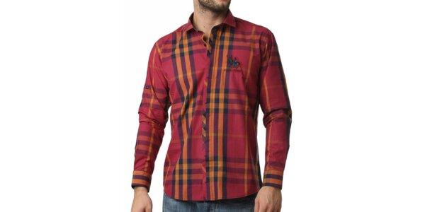 Pánská červeno-žlutě kostkovaná košile Frank Ferry