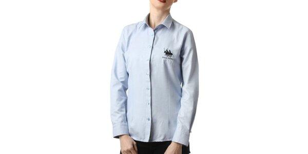 Dámská modrá košile s výšivkou Frank Ferry