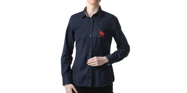 Dámská tmavě modrá košile s výšivkou Frank Ferry