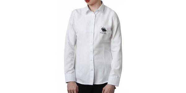 Dámská bílá košile s výšivkou Frank Ferry