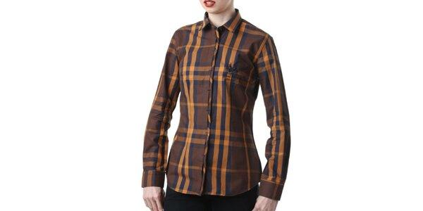 Dámská hnědě kostkovaná košile Frank Ferry