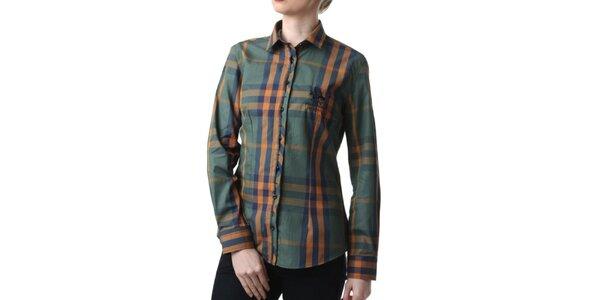 Dámská zelená kostkovaná košile Frank Ferry