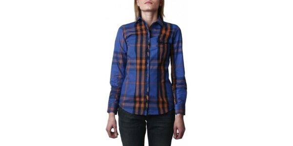 Dámská modrá kostkovaná košile Frank Ferry