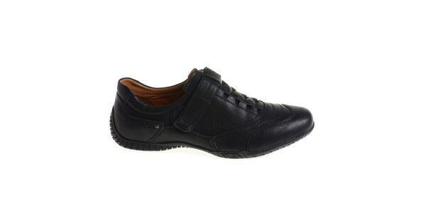 Pánské černé boty se suchým zipem Quattrocento