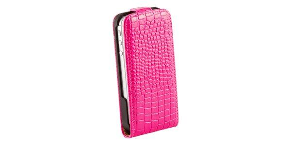 Krokodýlí růžové pouzdro pro iPhone 4/4S