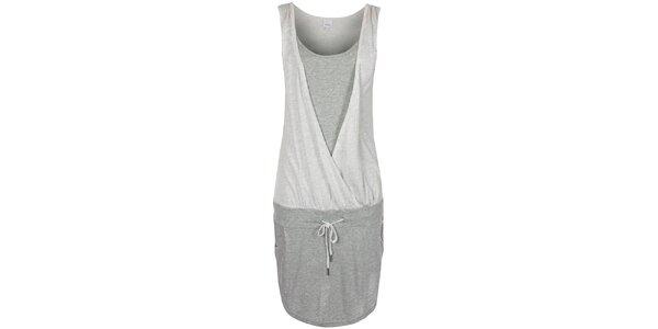 Dámské šedé šaty bez rukávů Bench