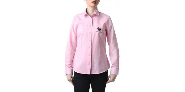 Dámská růžová košile s výšivkou Frank Ferry
