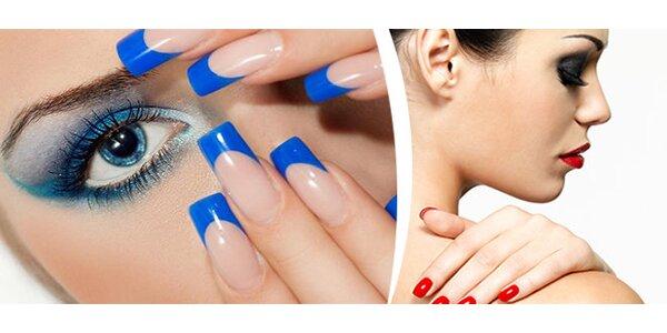 Nové gelové nehty včetně zdobení