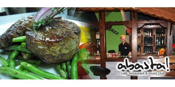 375 Kč za DVA vynikající steaky z pravé argentinské roštěné.