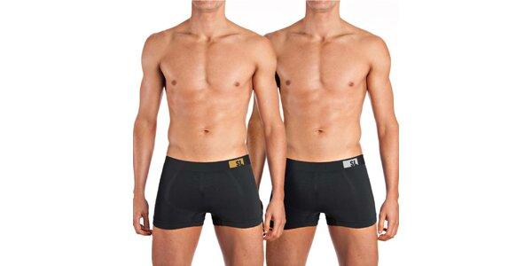 Sada dvou pánských boxerek v černé barvě Mosmann