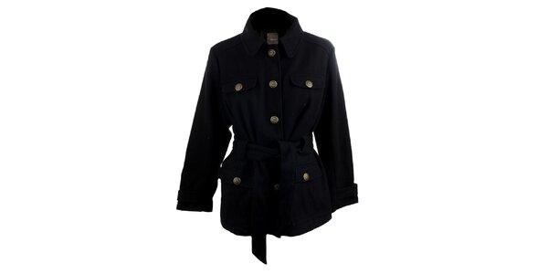 Dámský krátký černý kabátek Ikebana