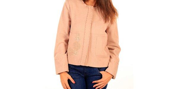 Dámský krátký růžový kabátek Tonala