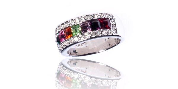 Dámský prsten Bague a Dames s barevnými kamínky