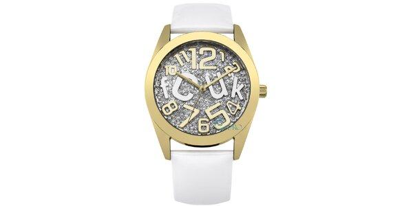 Dámské zlaté hodinky s kamínky French Connection