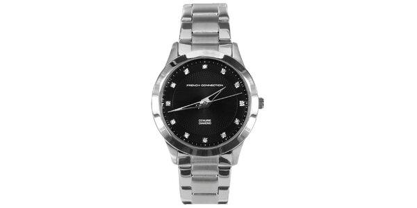 Dámské hodinky s černým ciferníkem French Connection