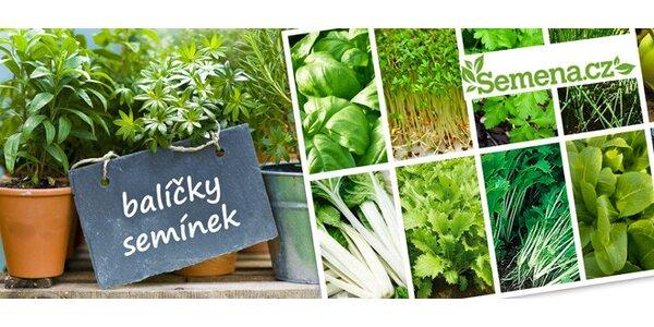 Balíčky semínek se zeleninou, bylinkami i klíčky