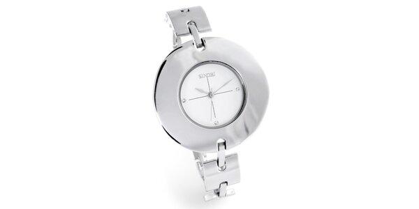 Dámské stříbrné hodinky Bague a Dames s bílým ciferníkem