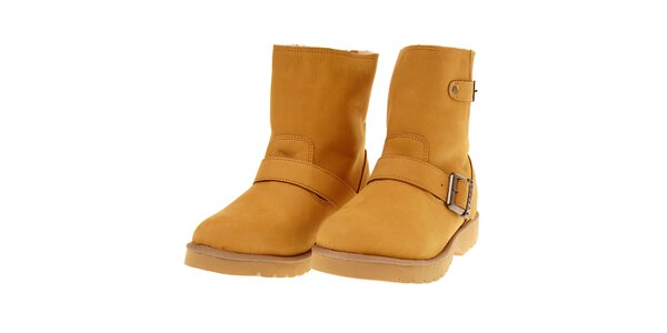Dámské nízké pískové boty Buffalo s modrým zipem