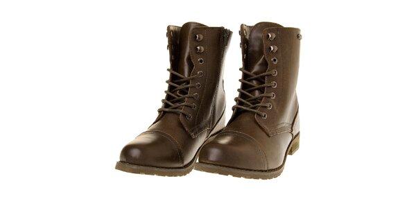 Dámské khaki kotníčkové boty Buffalo