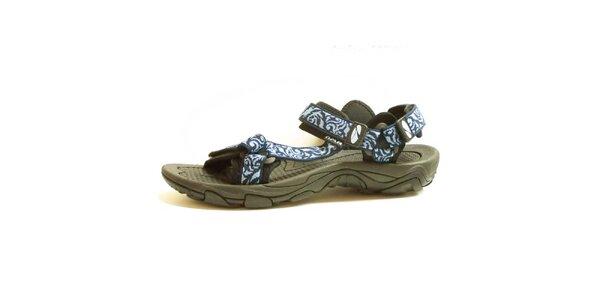 Dámské sandály se vzorovanými modrými pásky Numero Uno