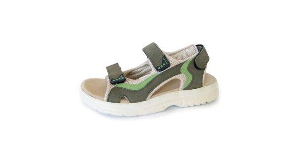 Dámské khaki sandály Numero Uno
