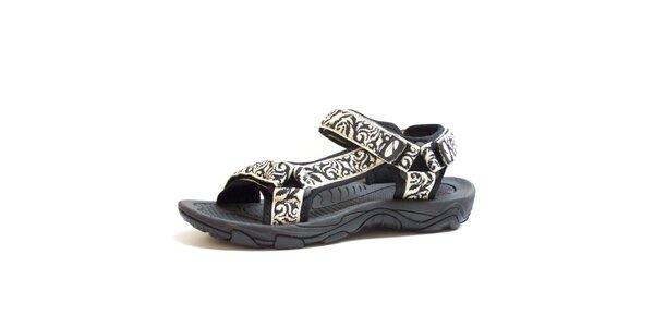 Pánské černo-bílé vzorované sandály Numero Uno