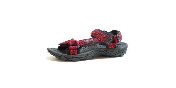 Pánské černo-červené vzorované sandály Numero Uno