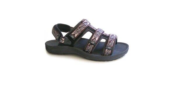 Pánské hnědo-černé vzorované sandály Numero Uno