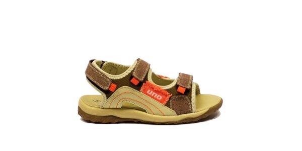 Dětské sandály s oranžovými prvky Numero Uno