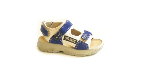 Dětské modro-béžové sandálky Numero Uno