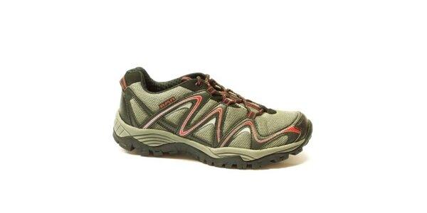 Pánské šedo-červené sportovní nízké boty Numero Uno