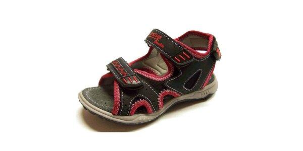 Dětské černo-červené sandálky Numero Uno