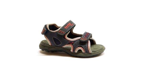 Dětské modro-červené sandálky Numero Uno