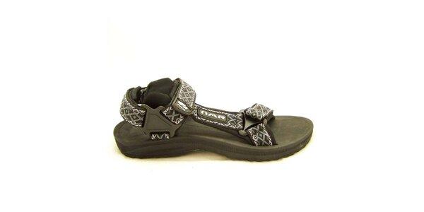 Dámské černé sandály se vzorovanými pásky Numero Uno