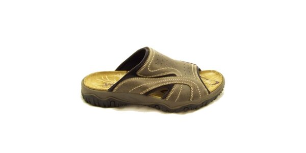 Pánské béžové nazouvací boty Numero Uno