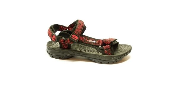 Dámské trekové sandály s červeným vzorem Numero Uno