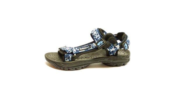 Pánské outdoor šedomodré sandály Numero Uno