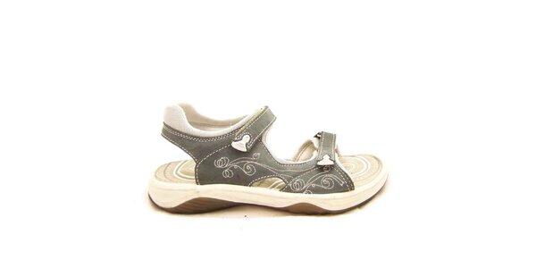 Dámské šedo-krémové sandály s prošíváním Numero Uno