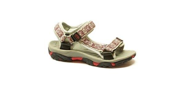 Dámské bílo-červené sandály Numero Uno se vzorem
