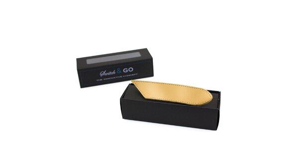 Zlaté výměnné pásky a tkaničky French Lab - řada Trendy Casual
