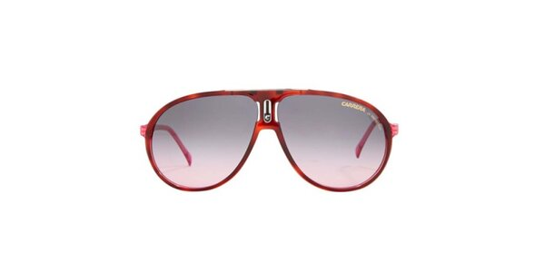 Červené sluneční brýle s růžovými stranicemi Carrera