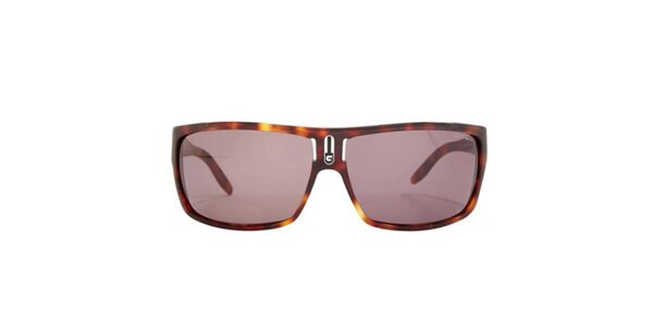 Pánské hnědě žíhané sluneční brýle Carrera