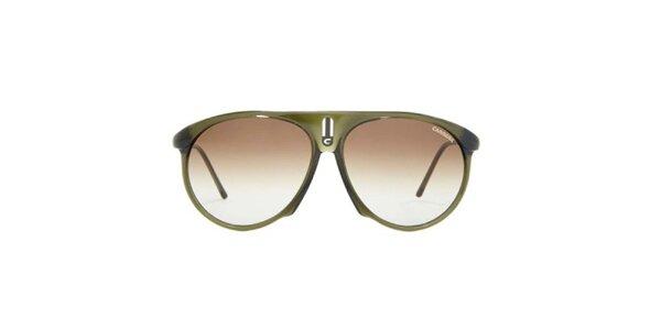 Khaki sluneční brýle Carrera