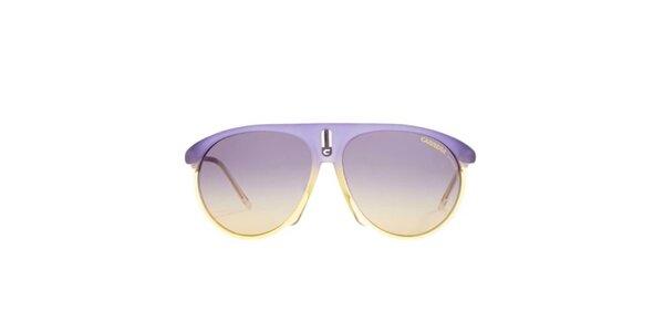 Fialovo-žluté sluneční brýle Carrera