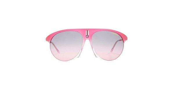 Růžové sluneční brýle s transparentní částí Carrera