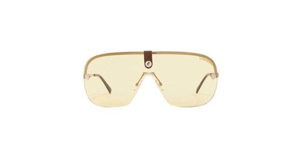 Zlaté sluneční brýle s hnědým zakončením stranic Carrera